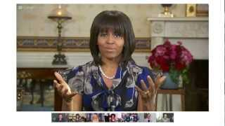 First Lady Michelle Obama's Fireside Google+ Hangout On Air Highlights