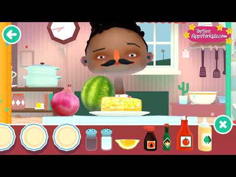 Toca Kitchen 2 🥗 Veggie Meals Prep 🍅 Cooking Game App For Kids