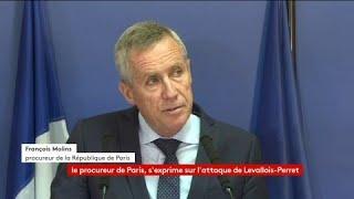 """""""Les investigations viennent étayer le caractère terroriste de l'attaque"""" contre 6 militaires à Levallois-Perret le 9 août dernier a indiqué François Molins le procureur de la République de Paris"""