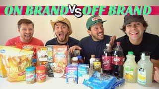 Video NAME BRAND vs GENERIC FOOD!! (Blind Taste Test) MP3, 3GP, MP4, WEBM, AVI, FLV Desember 2018