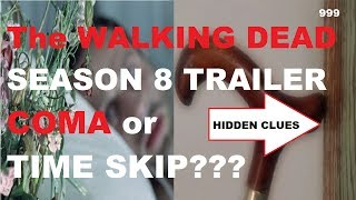 The Walking Dead Season 8 Comic Con Trailer - COMA or TIME SKIP. Is Rick dreaming the Zombie Apocalypse. Does Negan kill Rick in Season 8? The trailer opened the door for many Rick theories but perhaps it's just a time skip? Was that a sneak peek of Siddiq? How much of the comics will be scripted in Season 8?
