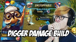 Video INI YANG TERJADI KALO DIGGER PAKE BUILD DAMAGE ! - MOBILE LEGENDS INDONESIA MP3, 3GP, MP4, WEBM, AVI, FLV Oktober 2017