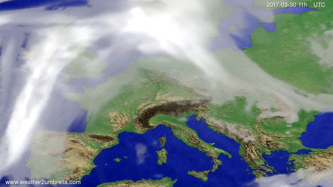 Cloud forecast Europe 2017-03-27