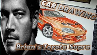 Nonton Brian´s Toyota Supra [The Fast and the Furious/Fan Art] Car Drawing by Fast Art Film Subtitle Indonesia Streaming Movie Download