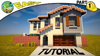 Minecraft: How to Build a Suburban House Part 1