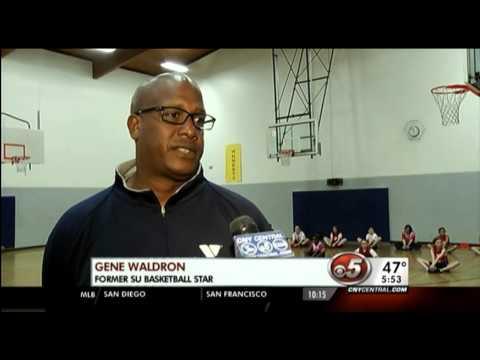 North Area youth learn basketball fundamentals from former SU star Gene Waldron