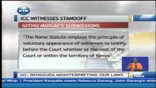 Attorney General Professor Githu Muigai Tells ICC Kenya Can't Compel Witnesses