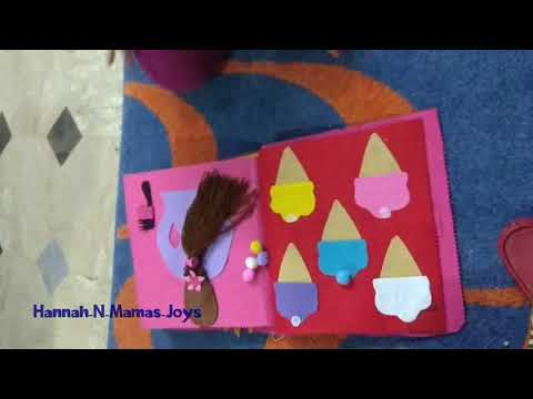 3 Years Old Toddler Playing With Handmade Busy Book By Hannah N Mama's Joys