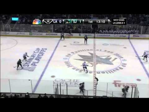 Brent Burns slapshot goal 1-0 May 21 2013 LA Kings vs SJ Sharks NHL Hockey_Ice hockey. NHL, National Hockey League best videos. Sport of USA, NHL
