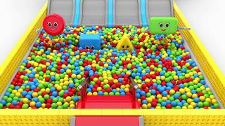 Shapes Fun Play with Color Balls - Learning Videos