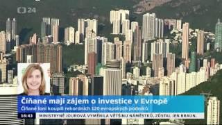 Číňané mají zájem o investice v Evropě