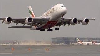 Video NEW Airbus A380 Taxi & Takeoff - Emirates - HD MP3, 3GP, MP4, WEBM, AVI, FLV Oktober 2017