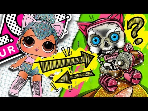 From KITTY QUEEN To SKELETON | LOL Surprise DOLL | DollHouse DIY ♥