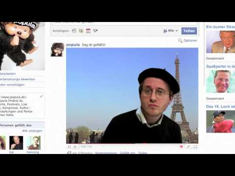 Facebook Fan Song – Sag dir gefällt's! – Popula singt wieder