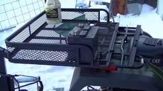 7. 2-Pc. Guide Gear ATV Front/Rear Basket Set on 01 Arctic Cat 300 4x4