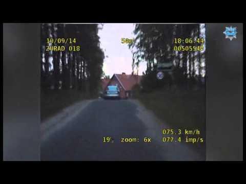 Policyjny pościg za pijanym kierowcą - zobacz film!