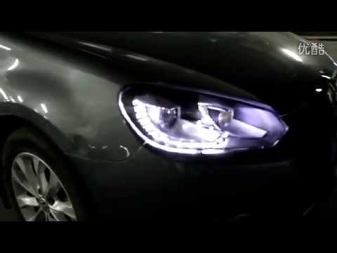 how to adjust mk6 gti headlights