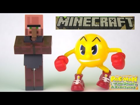PAC - Opening the minecraft series 2 overworld villager blacksmith figure and a pac-man and the ghostly adventures posable figures set. The minecraft series 2 overworld villager blacksmith came...