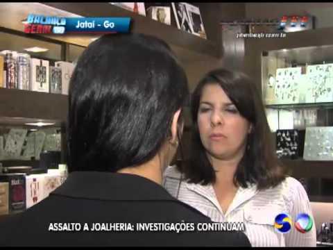 Policia civil investiga o assalto em uma joalheria do Shopping em Jataí