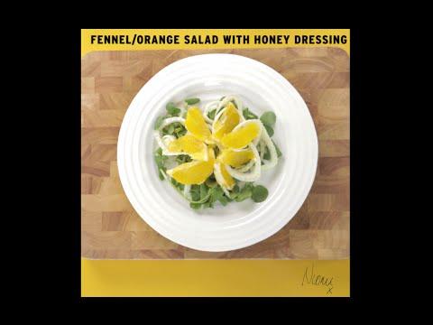 Niomi Smart Recipe: Raw Fennel & Orange Salad with Honey and Mustard Dressing