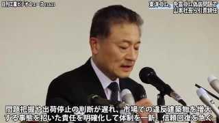 東洋ゴム、免震ゴム偽装問題で山本社長ら引責辞任(動画あり)
