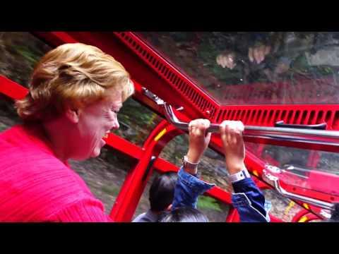 Blue Mountain Scenic Railway - worlds steepest Funicular Railway (видео)