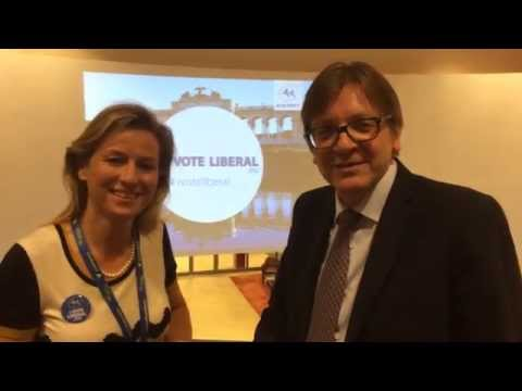 Alexandra Thein and Guy Verhofstadt present the ALDE Group