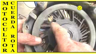 6. cuerda de arranque rota, en motoazada o motocultor ( reparación) broken starter rope in rototiller