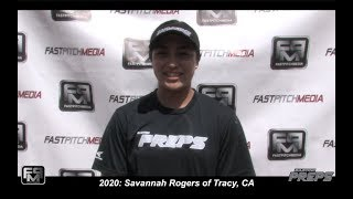 2020 Savannah Rogers Pitcher and Shortstop Softball Skills Video