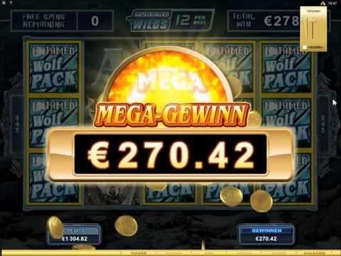 Untamed Wolf Pack - Mega Big Win on 90 Cent 1237x bet