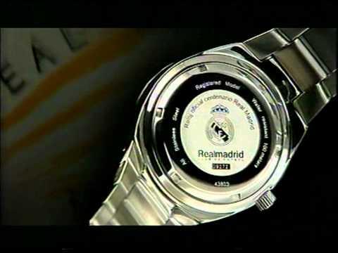 Anuncio del reloj oficial del centenario del Real Madrid
