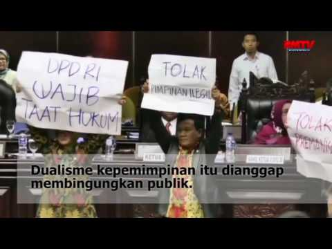 Paripurna Perdana DPD Pimpinan Oso Ricuh