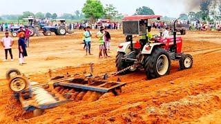 Swaraj 960 Pulling Harrow Att Tractor Aa Pura Sibbal Challian