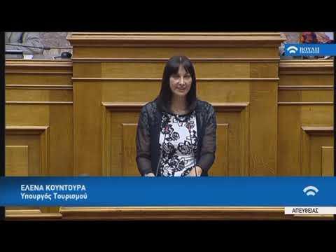 Ε.Κουντουρά (Υπουργός Τουρισμού)(Πρόταση δυσπιστίας κατά της Κυβέρνησης)(15/06/2018)