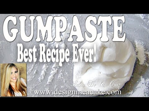 Best Gumpaste Recipe Ever- Step By Step Video