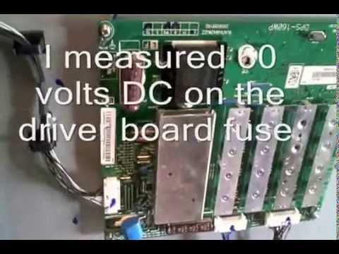 Sharp LC-70LE733U Reset procedure and voltages measurements.