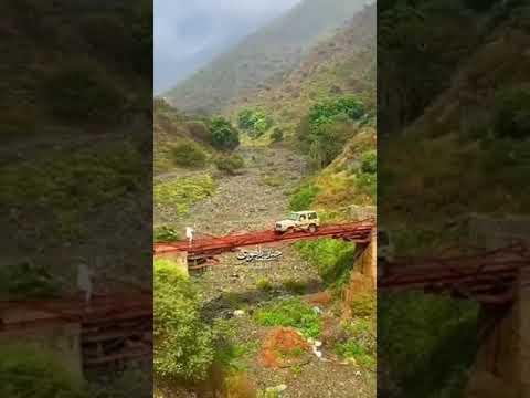 شاهد.. أهالي قرية في جازان يشيدون جسراً حديدياً بأنفسهم منذ 10 سنوات.. وهذه قصته
