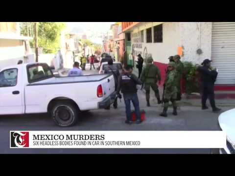 Six headless bodies were found in a vehicle in the Mexican state of Guerrero on Monday (January 16) during a crime wave in the restive region.