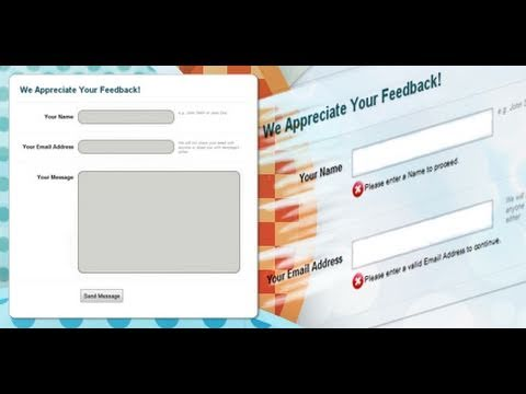 PHP Contact Form and Form Validation | Dreamweaver Tutorial – 1 of 2