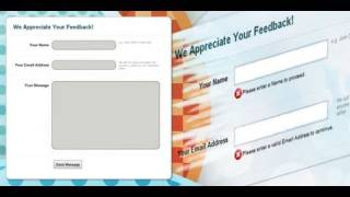 PHP Contact Form And Form Validation | Dreamweaver Tutorial - 1 Of 2