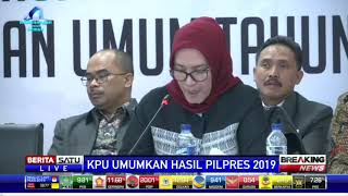 Video KPU: Jokowi-Ma'ruf Raih 55,5 Persen dan Prabowo-Sandi 44,5 Persen MP3, 3GP, MP4, WEBM, AVI, FLV Mei 2019
