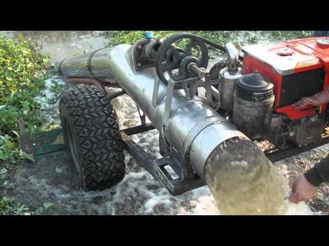 วัดระดับความแรงของน้ำ ท่อสูบน้ำ  หน้า 10 นิ้ว X 3 วา   ด้วยเครื่องคูโบต้า 140  แรง  กับใบพัดท่อสูตรเจริญกิจการช่าง