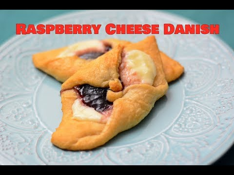Crescent Roll Raspberry Danish. Raspberry Cheese Danish. Crescent Roll Desserts. Pillsbury Dessert.