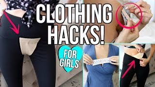 Video 17 CLOTHING LIFE HACKS EVERY GIRL MUST KNOW! MP3, 3GP, MP4, WEBM, AVI, FLV Oktober 2018