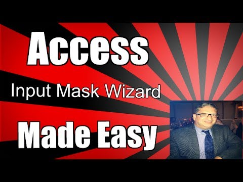 How to use the Input Mask Wizard - Using the Input Mask Wizard 2016 2013 2010 tutorial
