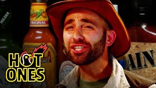 Coyote Peterson Takes on the Hot Wings Challenge and It's a Dream Come True