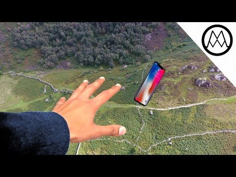 iPhone X Helicopter 1200ft Drop Test!! + Mous Case Review (видео)