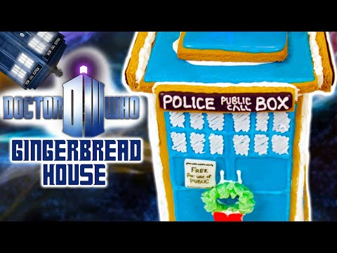 gingerbread - Today I made a Dr Who gingerbread house (with a special Christmas touch)! I really enjoy making nerdy themed goodies and decorating them. I'm not a pro, but ...