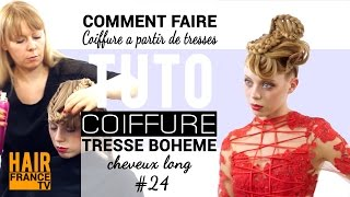 Tresses France  city pictures gallery : Coiffure du soir a partir de tresses. Marta Robak ★★★★★ HAIR France TV