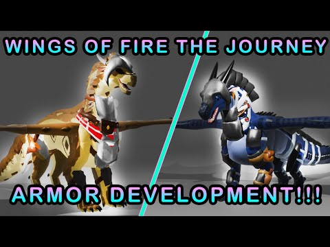 ARMOR DEVELOPMENT! Sandwing and Nightwing armor! | Wings of Fire The Journey